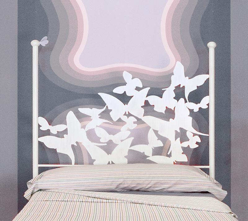 Cabecero 145 mariposas dormitorios de forja chasol camas - Cabeceros cama de forja ...